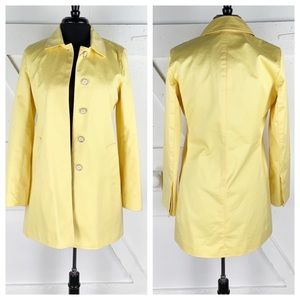 Coach Mid Length Trench Coat In Pale Yellow